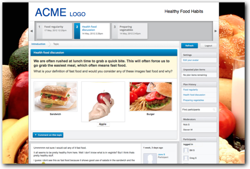 Acme Food Online Insight Discussion Board Example